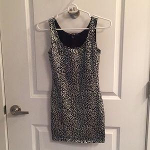 Silver and black cheetah print dress